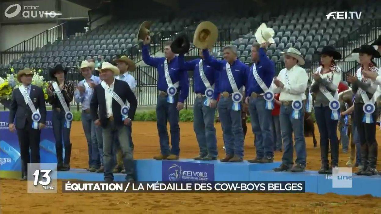 La Belgique à nouveau vice-championne du monde de reining
