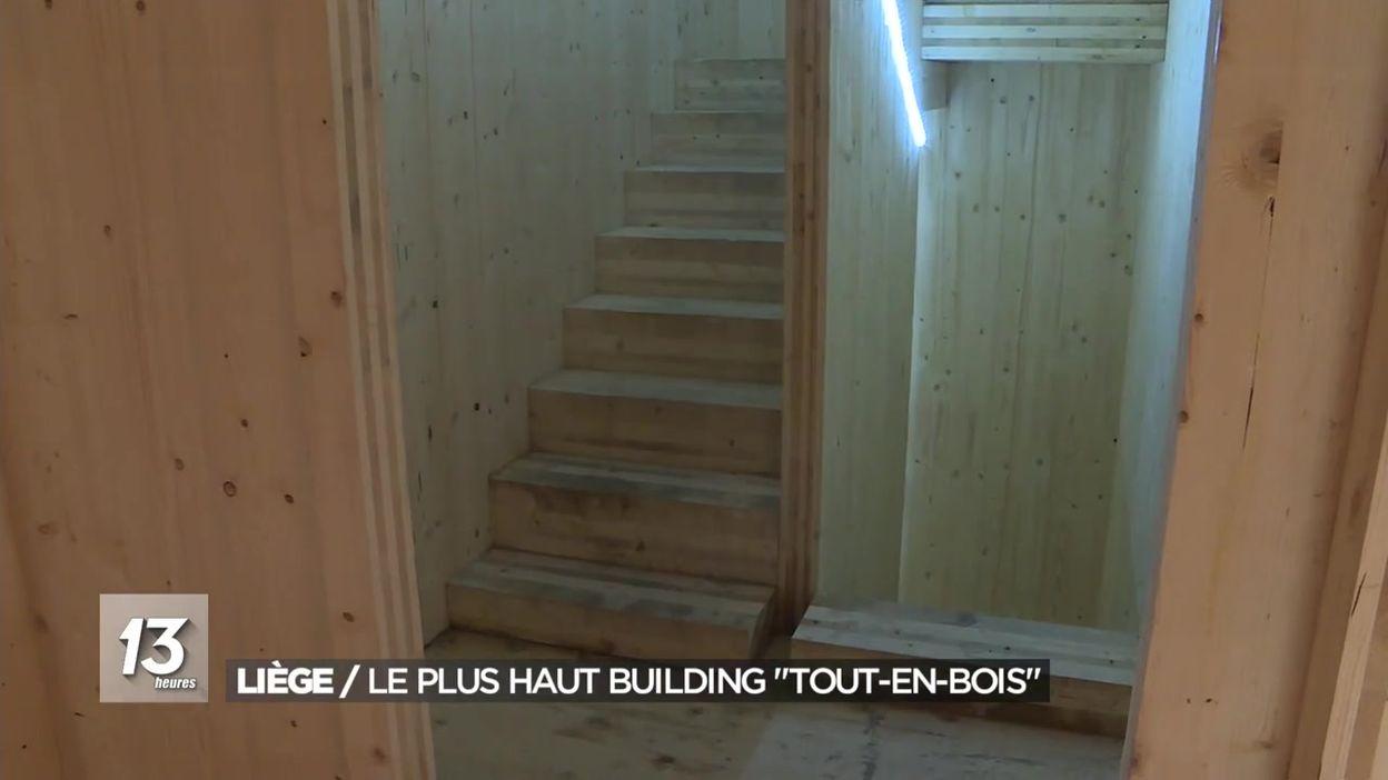 Liège : Le plus haut building tout-en-bois