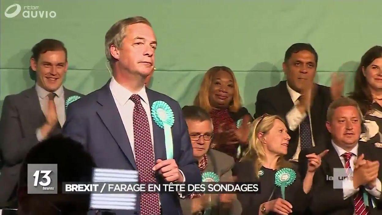 Brexit : Nigel Farage en tête des sondages