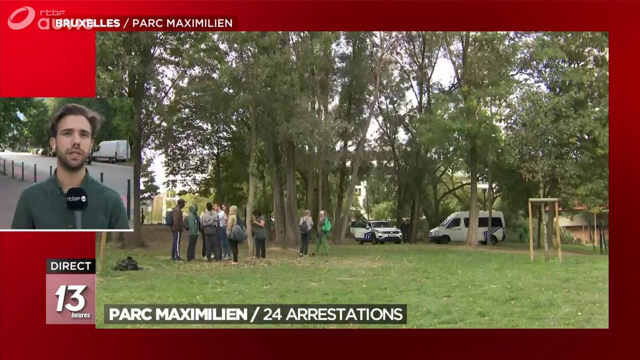 Nouvelle opération de police au Parc Maximilien : 24 arrestations