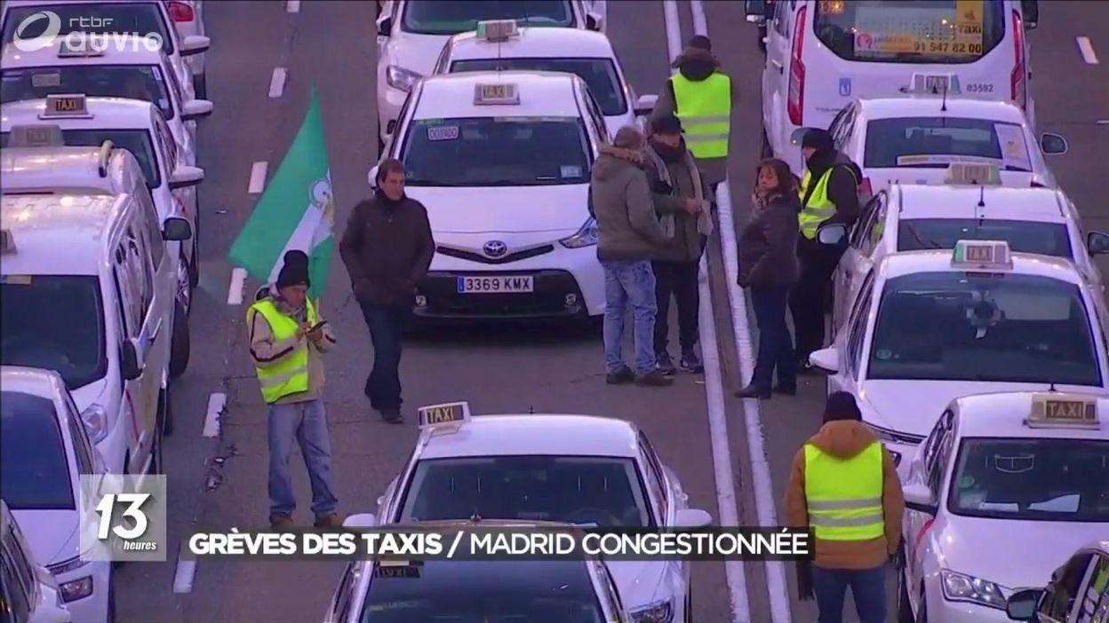 Espagne : grève illimitée des taxis à Madrid