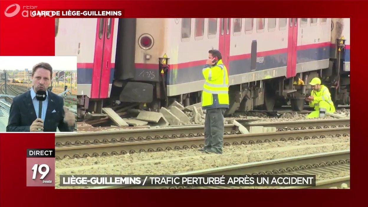Liège-Guillemins : le trafic perturbé après un accident