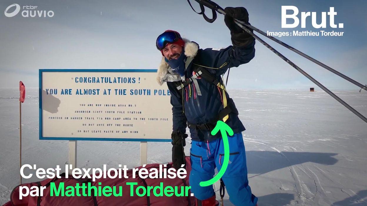 1150 km en solitaire, sans assistance et sans ravitaillement pour rejoindre le pôle Sud… L'exploit de Matthieu Tordeur
