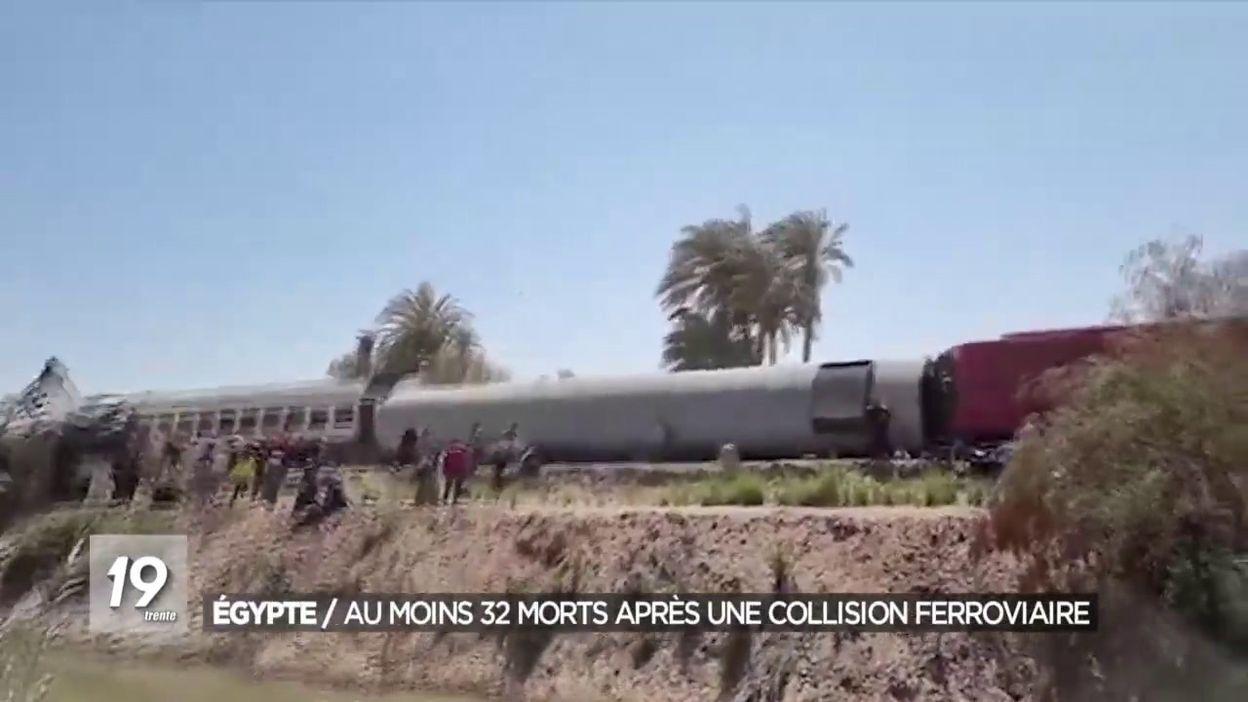 Égypte / Au moins 32 morts après une collision ferroviaire