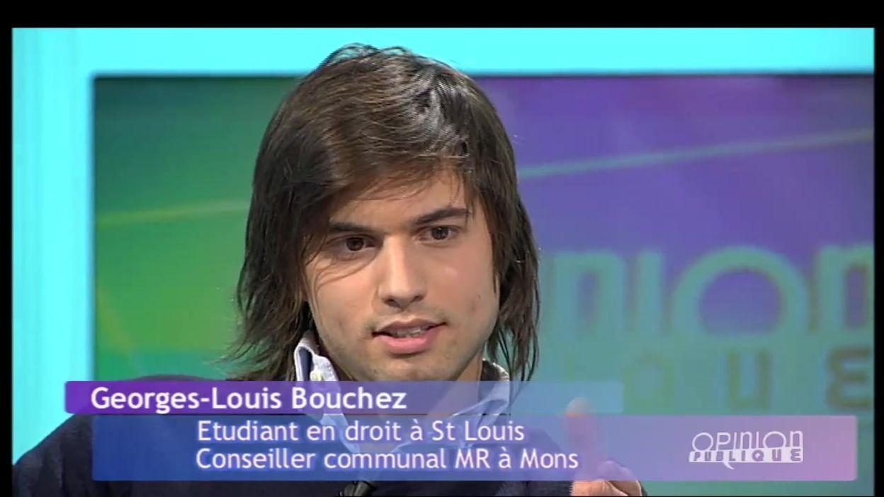 Archive 2008 : Georges-Louis Bouchez sur le plateau d'