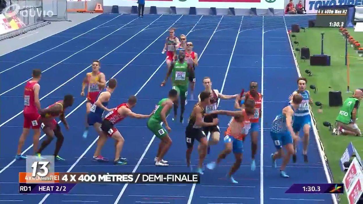 Championnats d'Europe : 1/2 finale 4x400m Homme