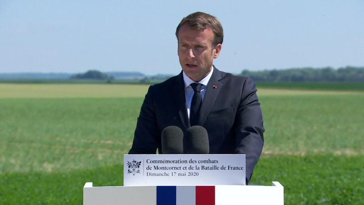 Extrait du discours d'Emmanuel Macron à Montcornet (Aisne), le 17 mai 2020