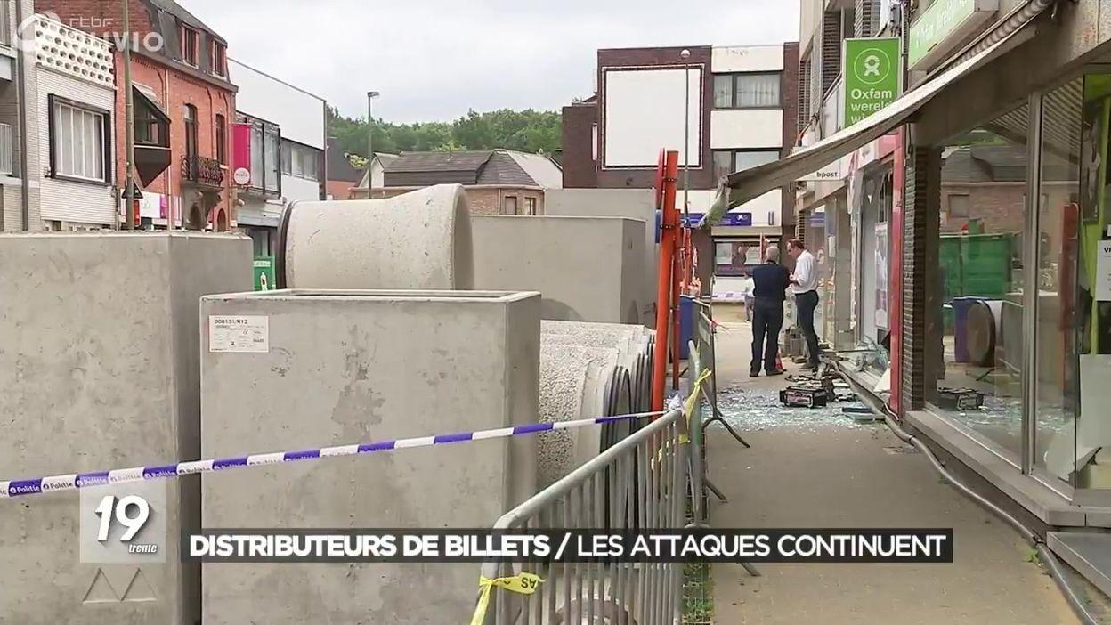 Anick Berghmans distributeurs de billets : les attaques continuent - jt 19h30 - 21/06/2018
