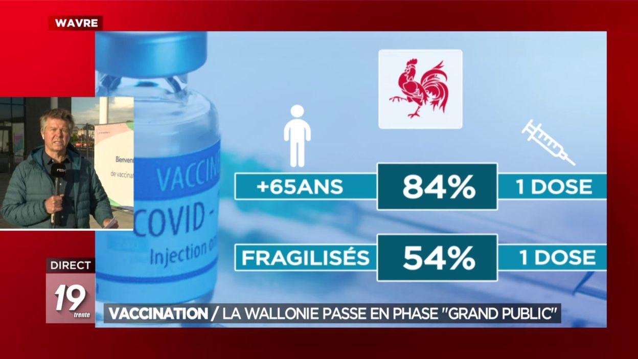 Vaccination :  La Wallonie passe en phase grand public