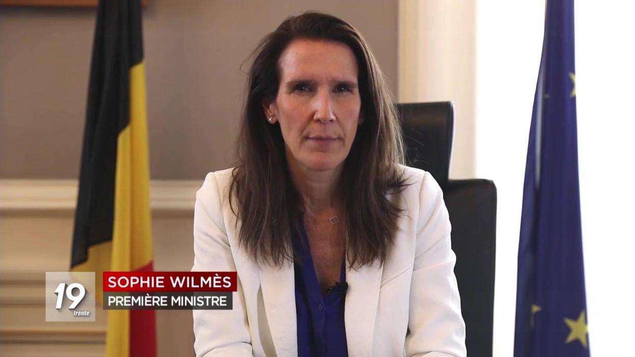 Le message de Sophie Wilmès aux Belges