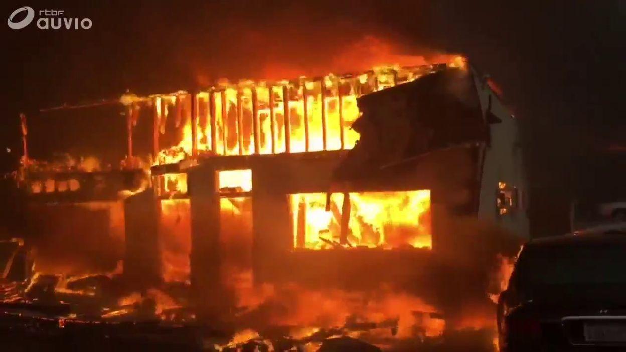Incendie en Californie : des maisons ravagées