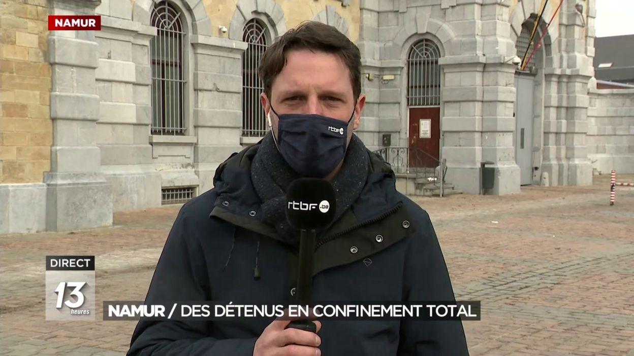 La prison de Namur : pas de visite pour les détenus