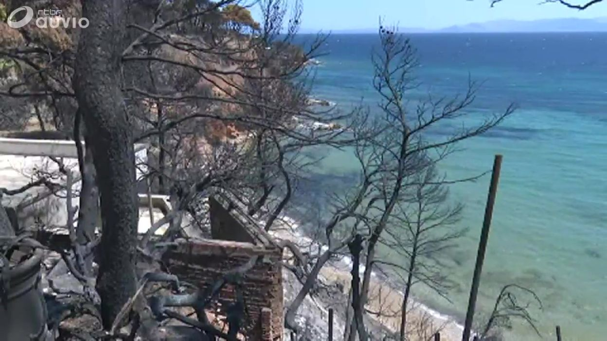 Incendies en Grèce: dégâts à Rafina (est de l'Attique)
