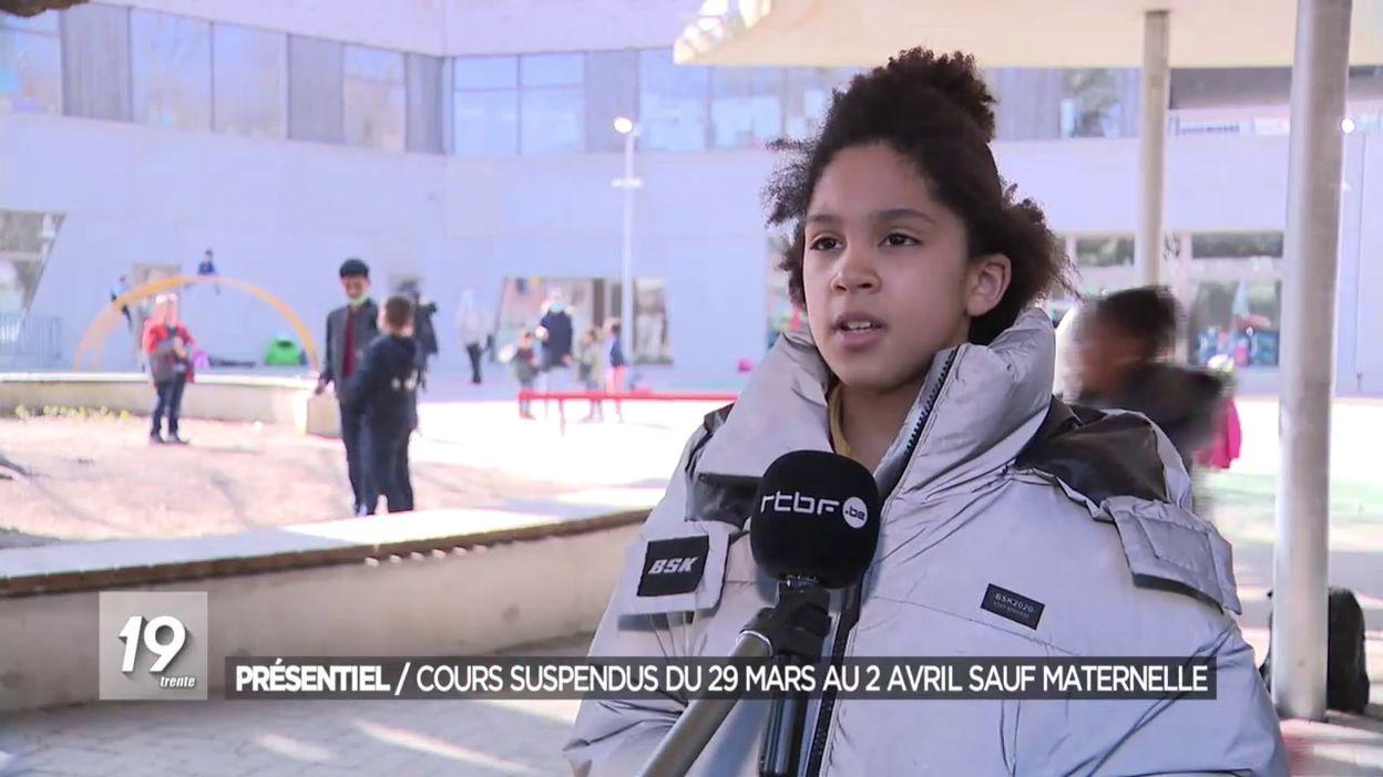 Présentiel : Cours suspendus du 29 mars au 2 avril sauf maternelle