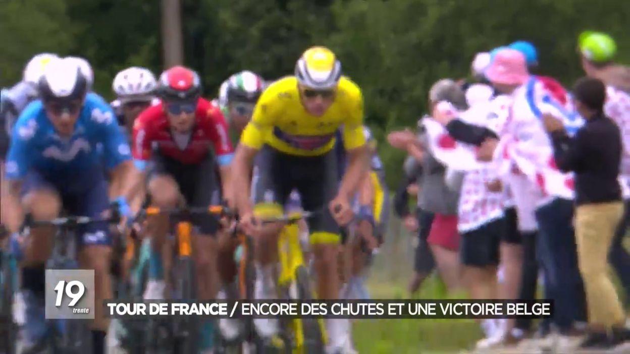 Tour de France : encore des chutes et une victoire belge