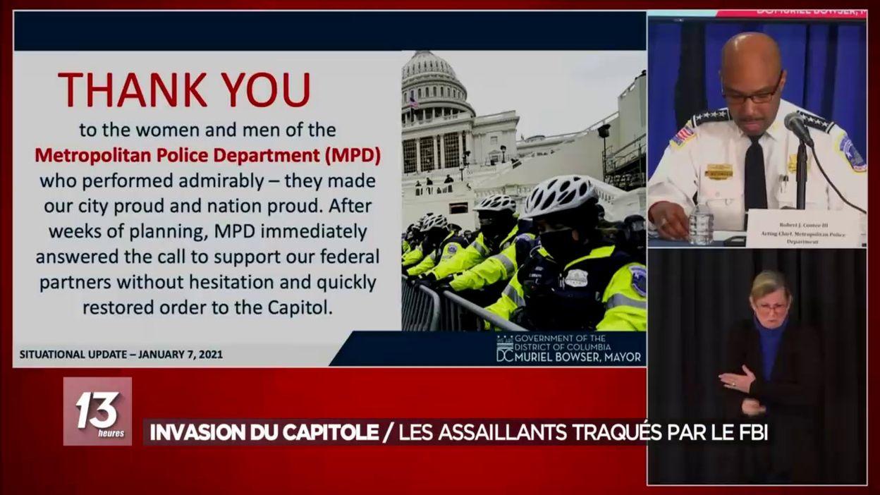 Invasion du Capitole: les assaillants traqués par le FBI