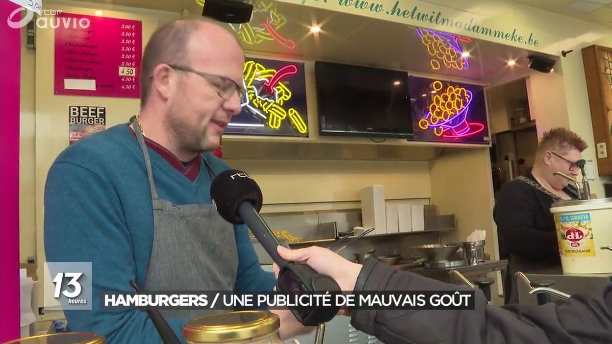 Hamburgers : une publicité de mauvais goût