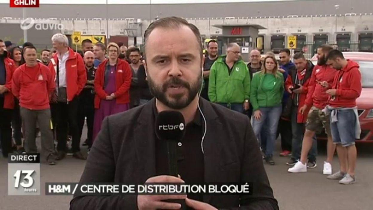 Ghlin Arrêt De Travail Au Centre D Approvisionnement De H M Jt 13h 16 06 2017