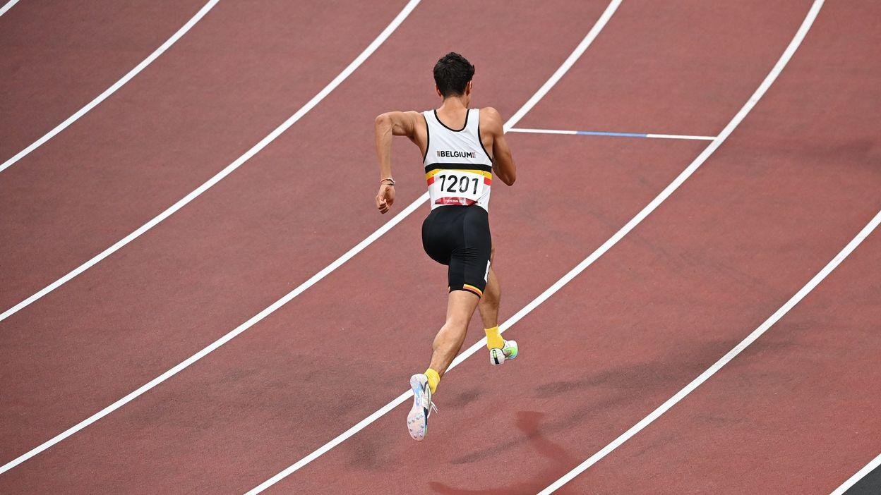 Jonathan Sacoor en demi-finale du 400m