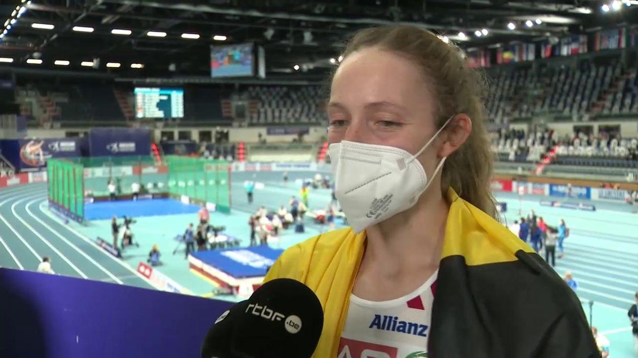 Noor Vidts, médaillée d'argent du pentathlon à Torun :