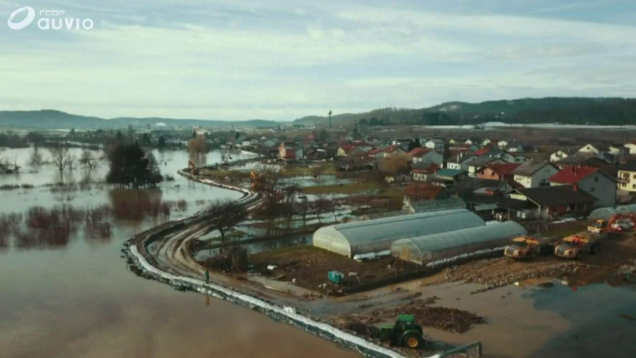 Croatie: des images des inondations qui touchent certaines régions du pays