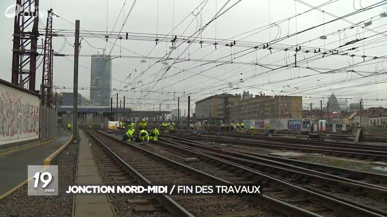 SNCB / Infrabel : fin des travaux à la jonction Nord-Midi