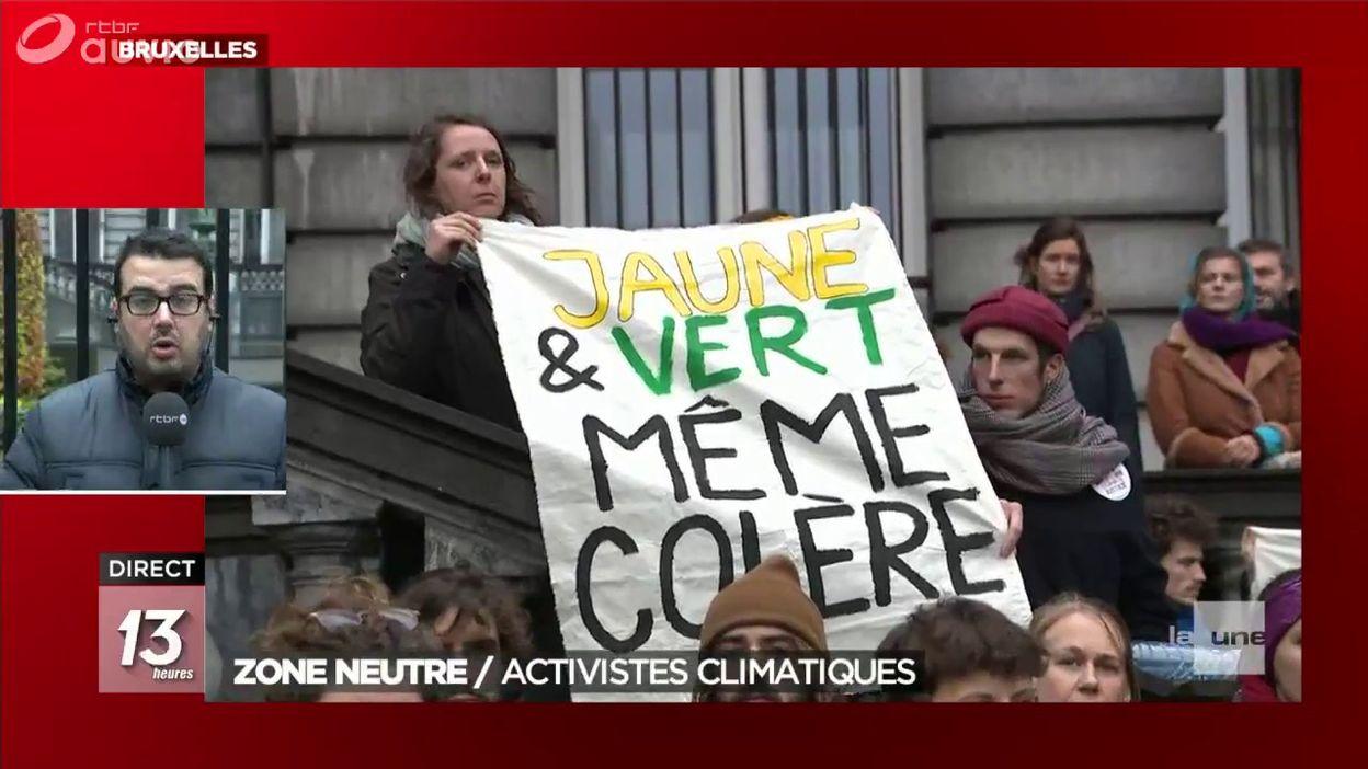 Parlement fédéral : les activistes climatiques en zone neutre