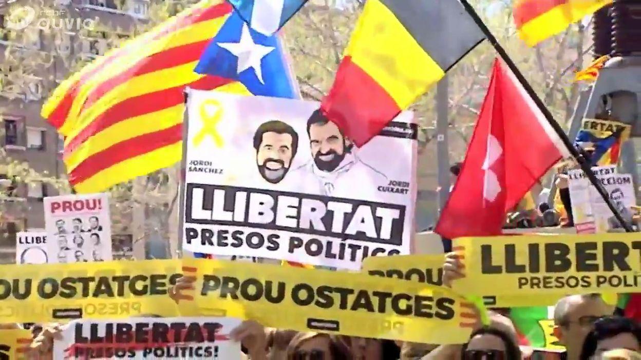 Barcelone: manifestation pour la libération des sécessionnistes, ce dimanche