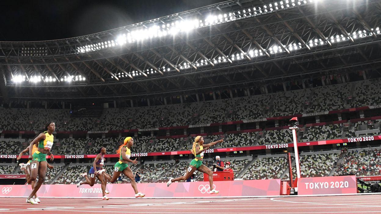 Athlétisme : Finale du 100m Dames