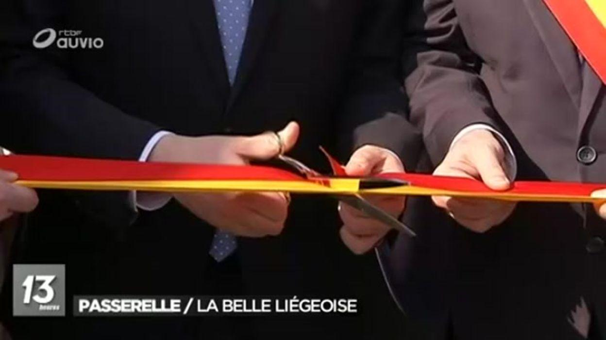 Inauguration officielle de la passerelle La belle Liégeoise - 02/05/2016