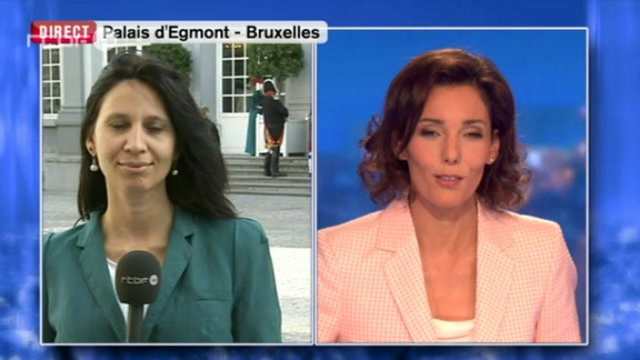La commémoration bal de Waterloo. Nadia Salmi, en direct du Palais d'Egmont à Bruxelles