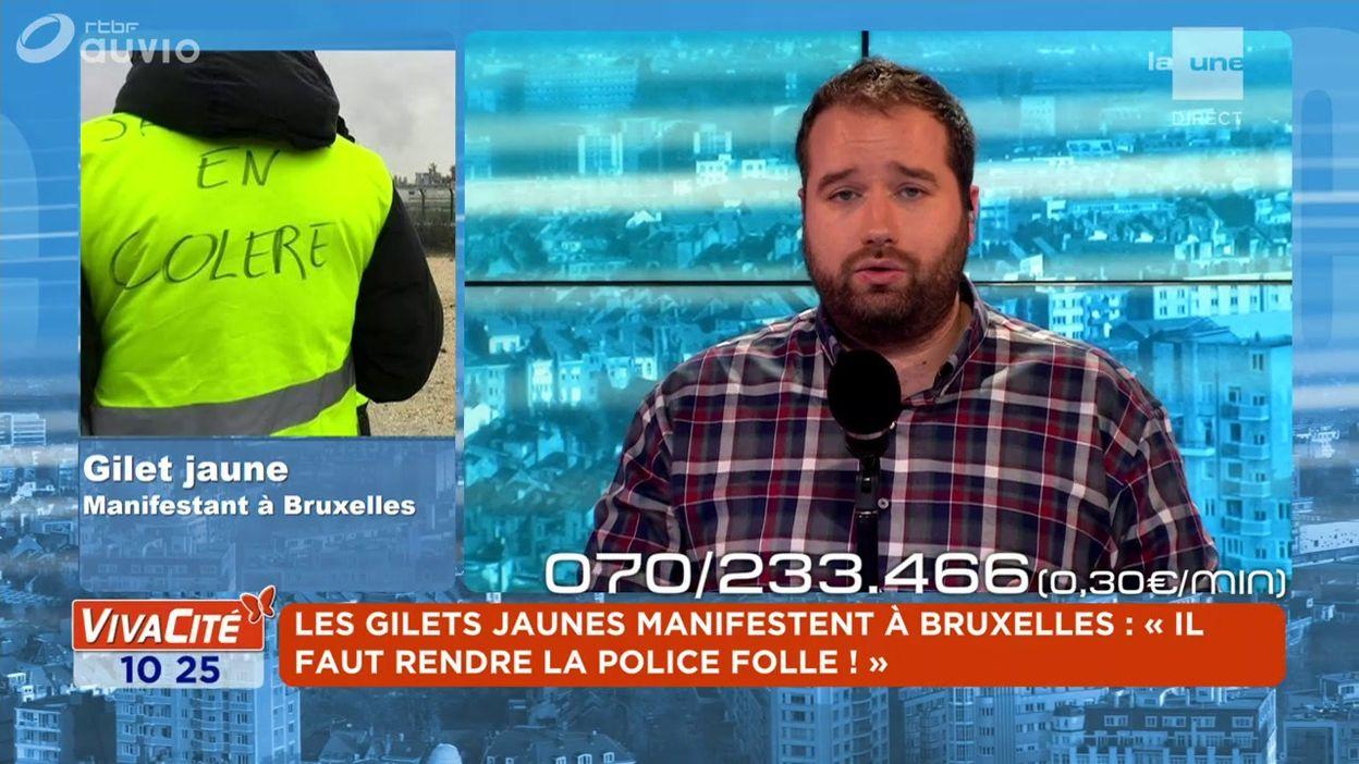 L'expert du débat : Gilet jaune de La Louvière - Manifestant à Bruxelles