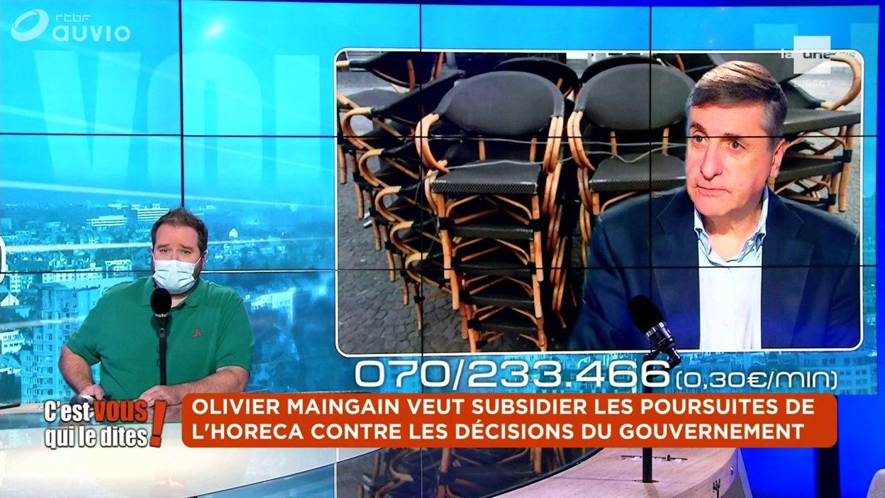Olivier Maingain veut subsidier les poursuites de l'Horeca contre les décisions du gouvernement