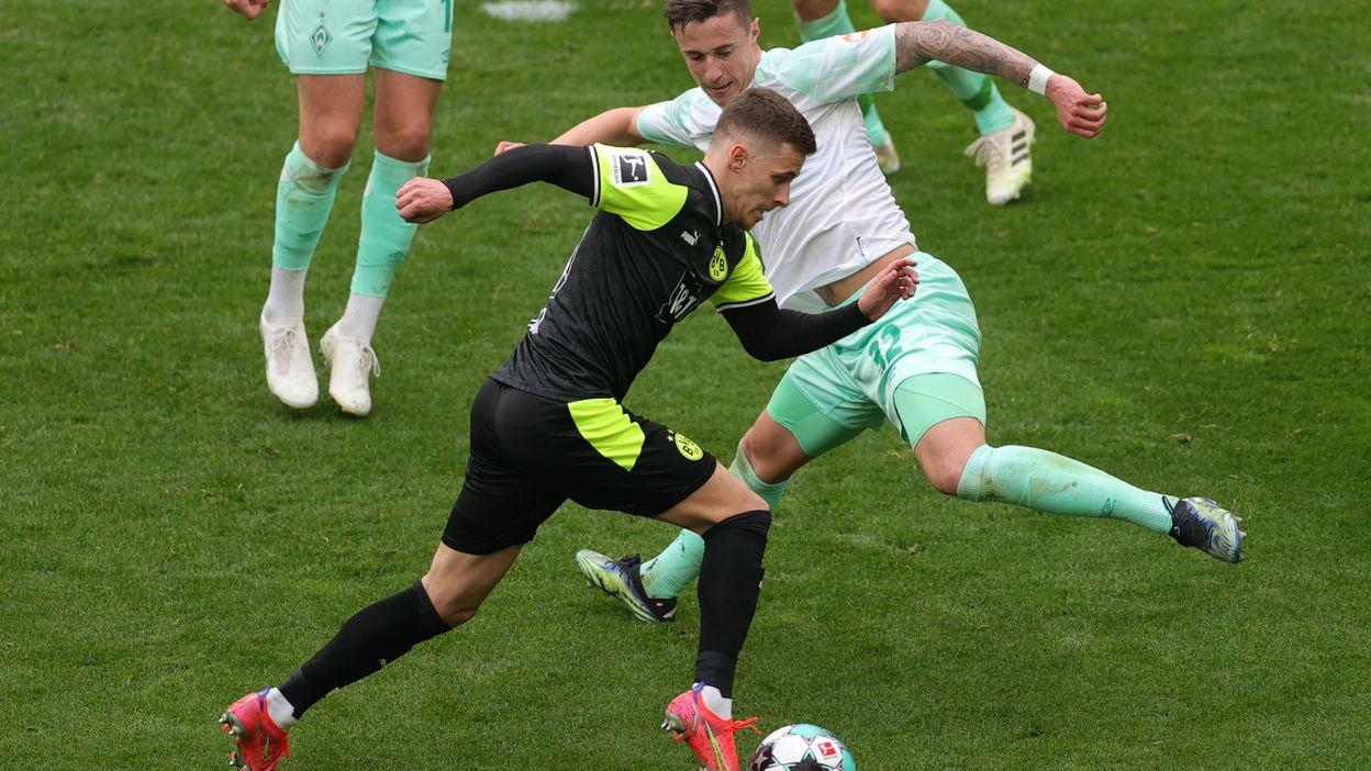 Thorgan Hazard à l'assist contre le Werder Brême