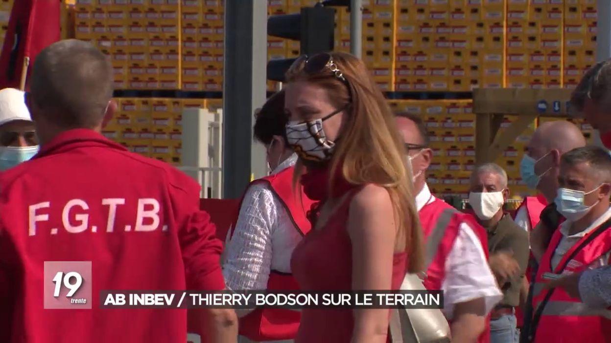 AB InBev: Thierry Bodson sur le terrain