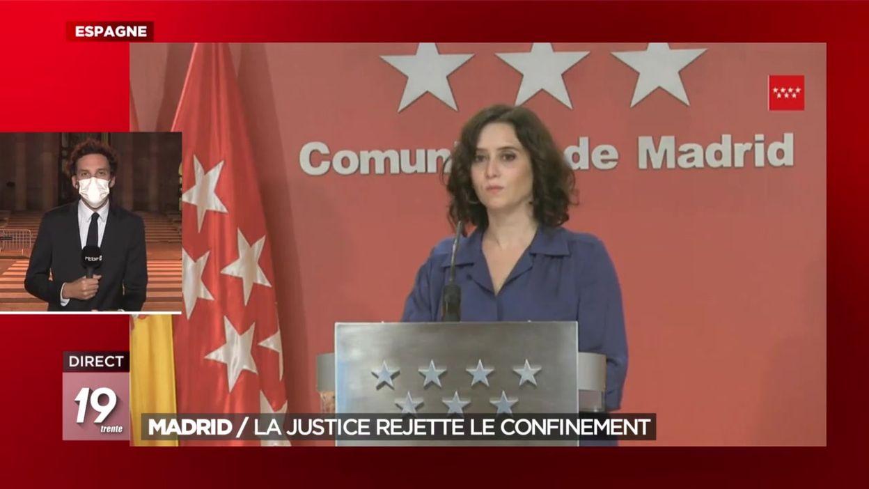 Madrid : la justice locale rejette le confinement