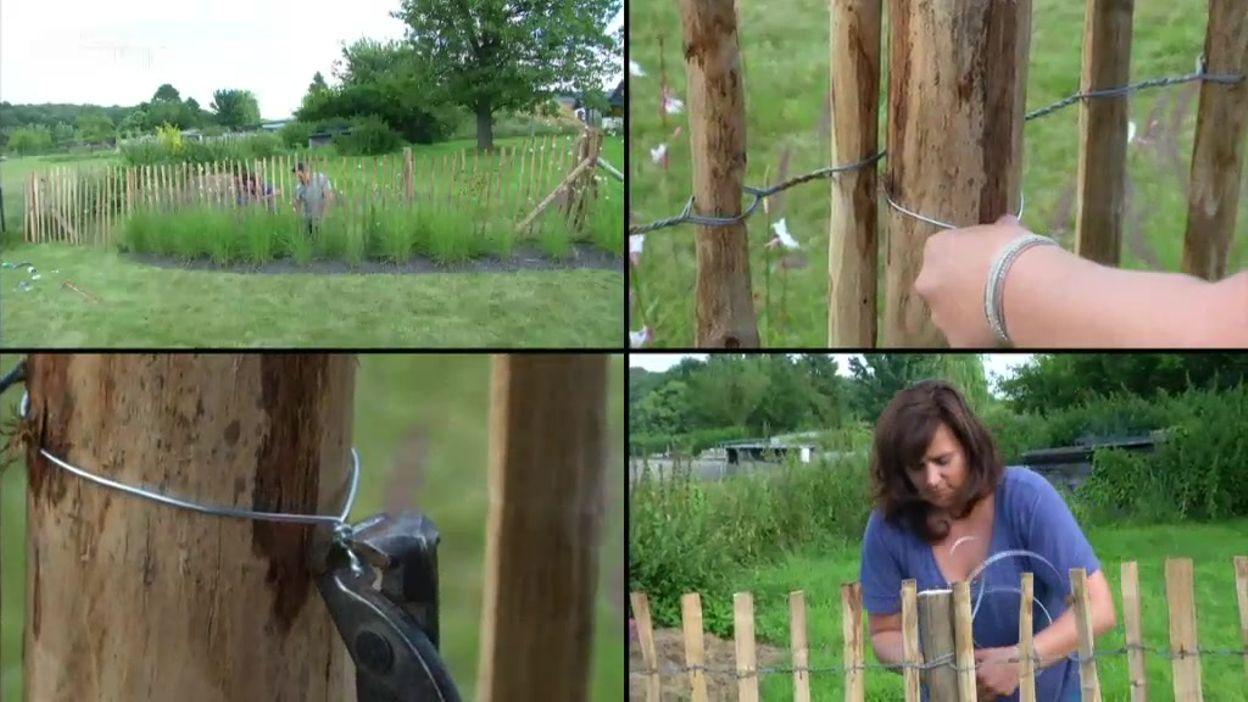 Il y a un truc : placer une clôture en châtaignier - Une brique ...