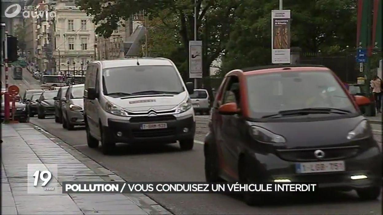 Basse émission : 800 automobilistes interdits de circuler à Bruxelles