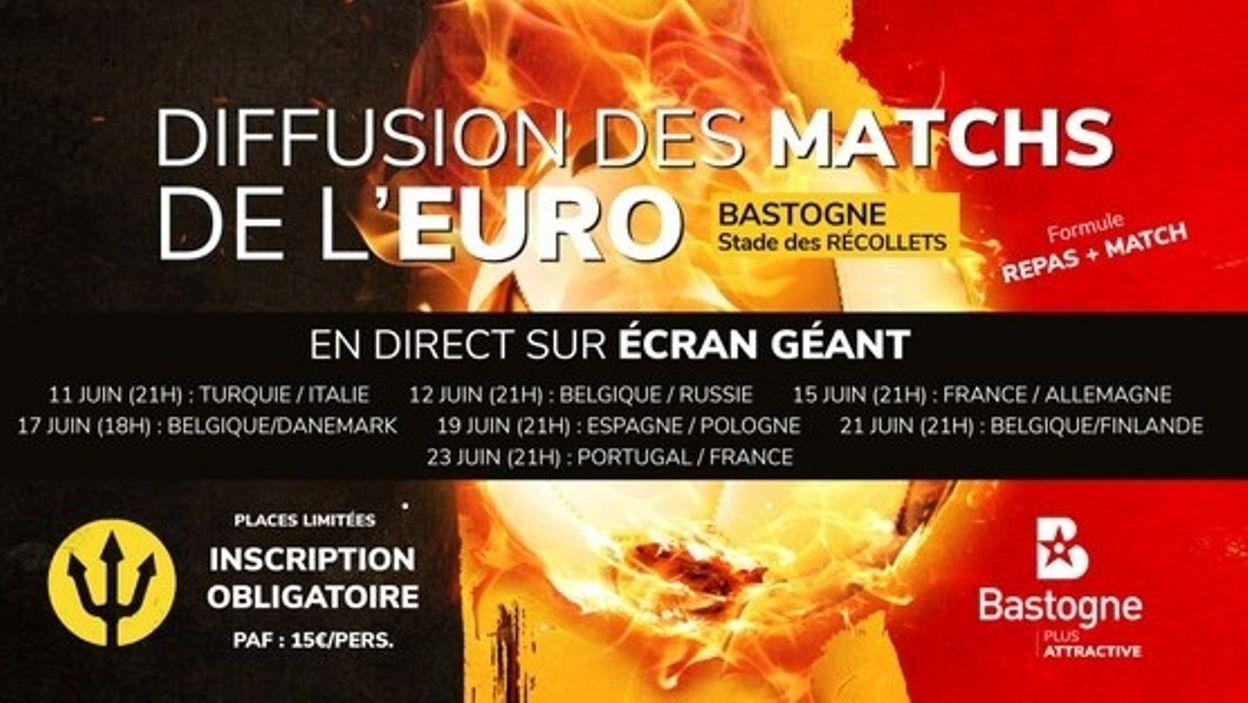 L'Euro 2020 sur écran géant c'est également à Bastogne