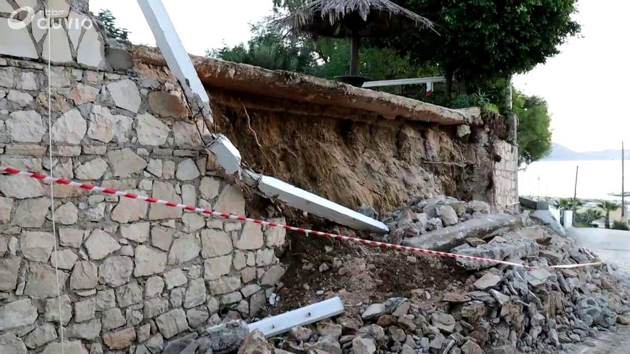 Grèce: dommages causés par le séisme sur l'île de Zante, ce 26 octobre au matin
