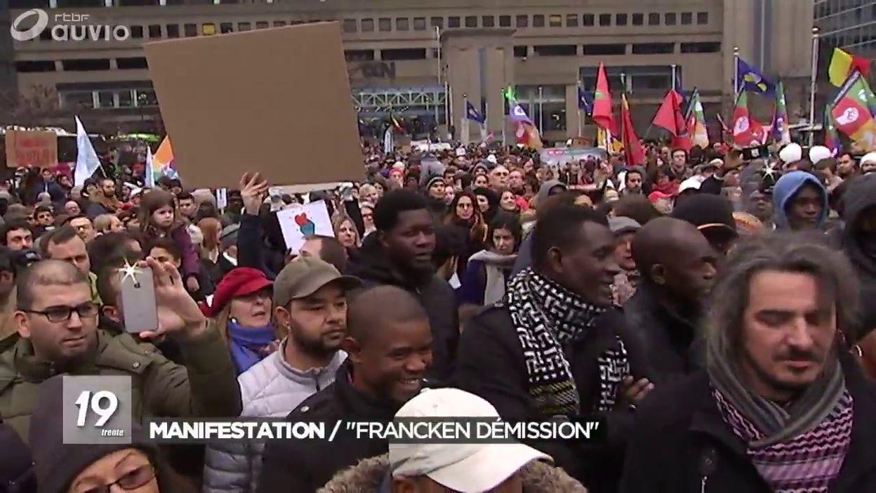Manifestation pour la démission de Théo Francken
