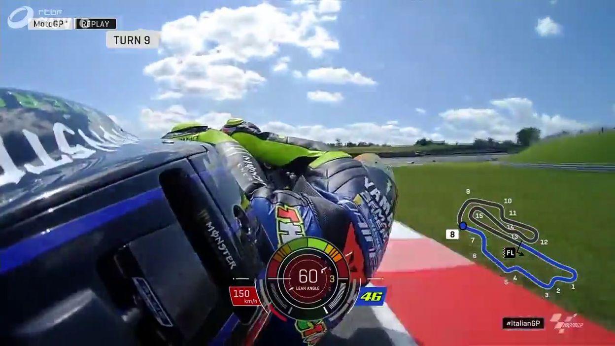 Valentino Rossi chute et abandonne sur ses terres