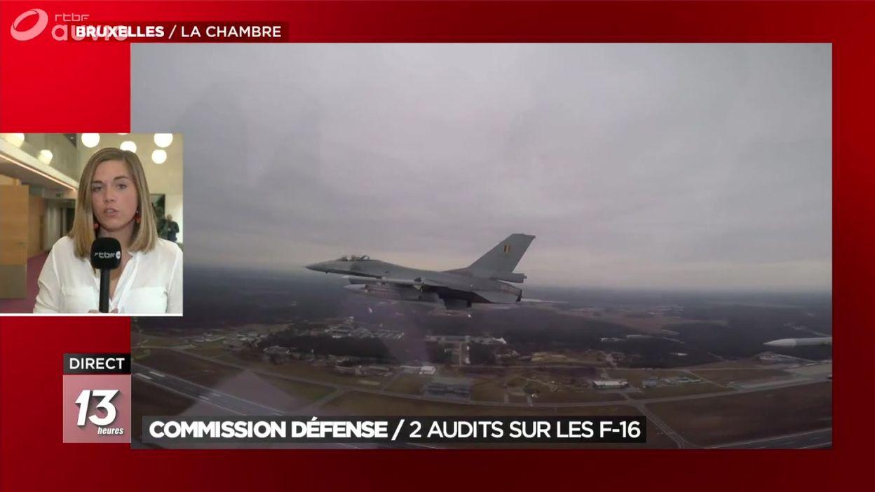 F-16 : audits présentés en Commission Défense de la Chambre