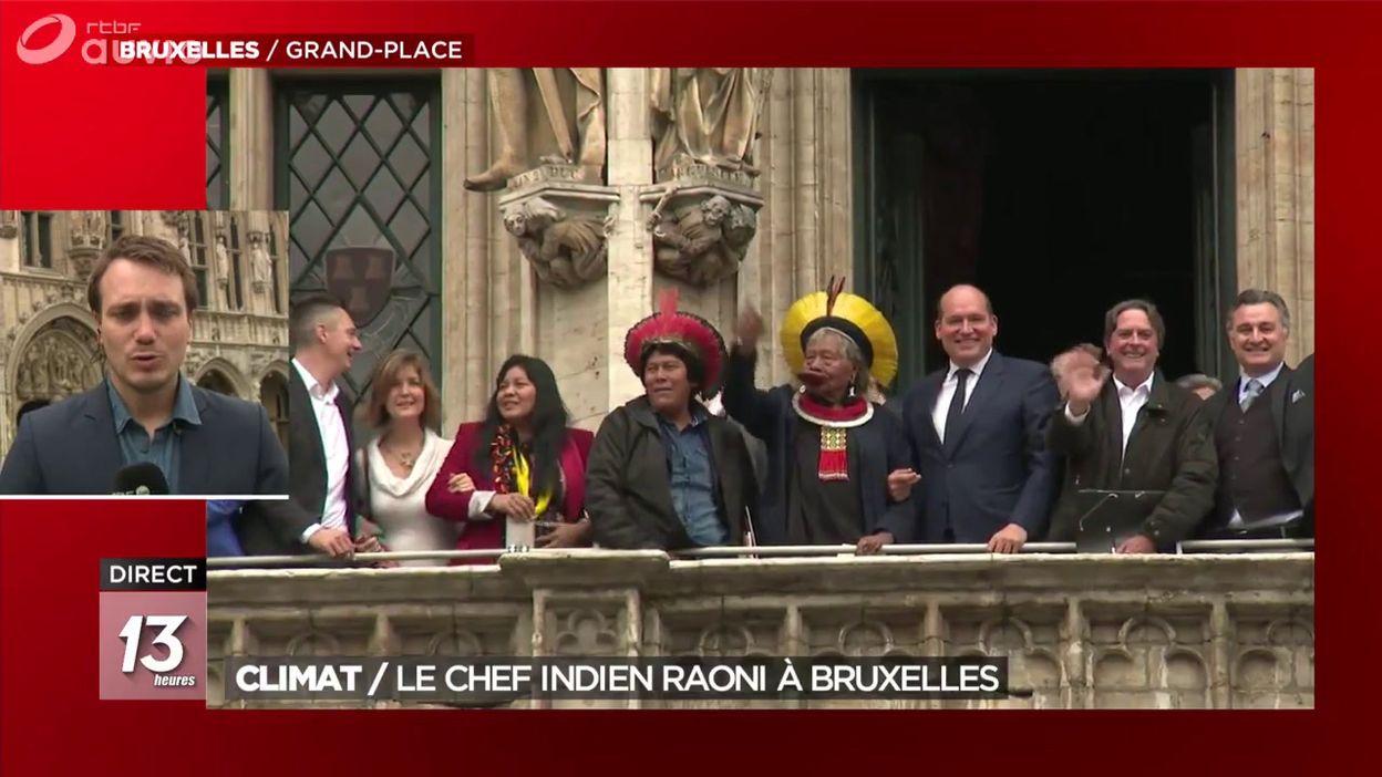 Marche pour le Climat : le chef indien Raoni est à Bruxelles