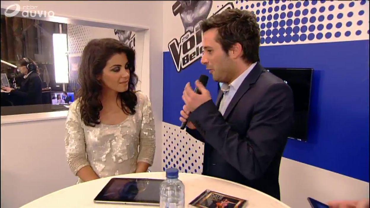 Adrien Devyver et Katie Melua dans la Smartroom de The Voice