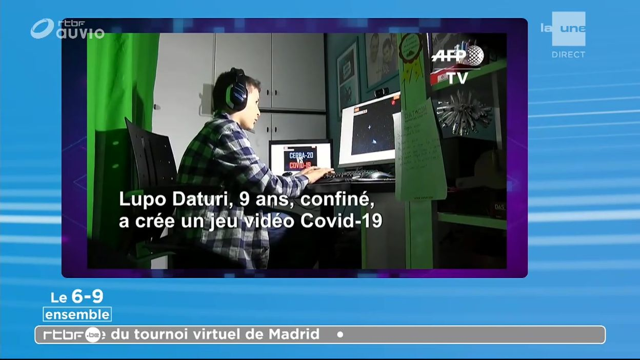 Un garçon de 9 ans programme un jeu vidéo pour lutter contre le coronavirus