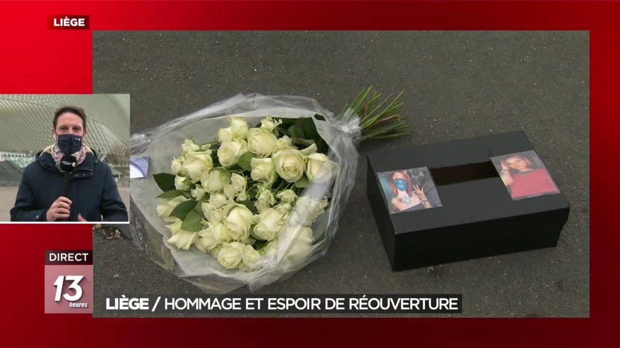 Liège : hommage et espoir de réouverture des commerces