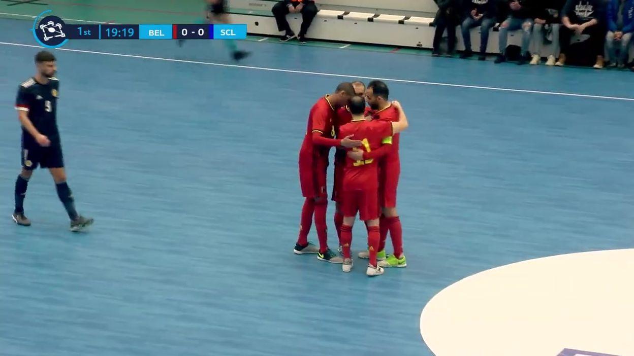 Qualifications pour l'Euro de futsal: La Belgique s'isole après sa victoire contre l'Ecosse