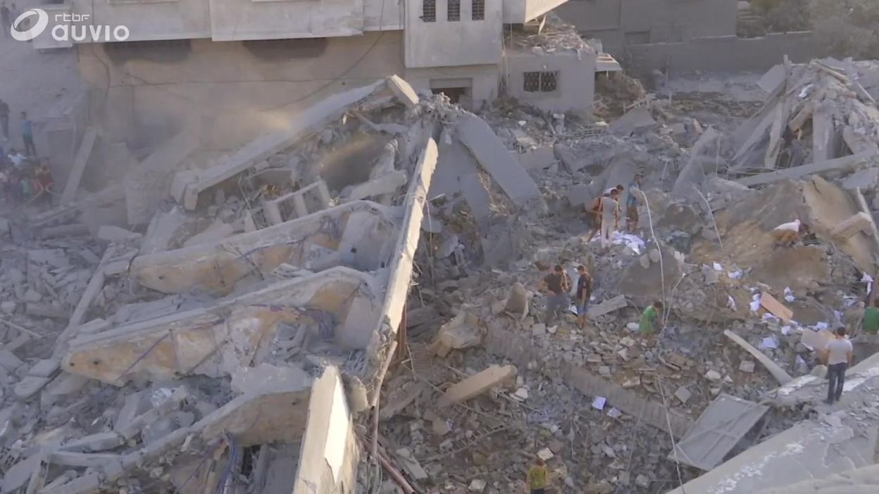 Centre culturel de Gaza endommagé par une attaque aérienne israélienne, ce 09 août
