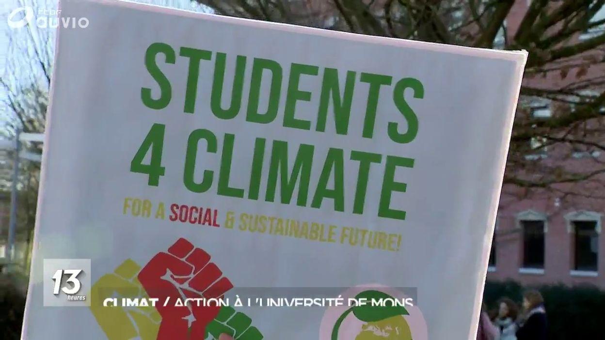 Climat : des actions à l'Uuniversité de Mons